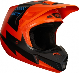MX helma FOX V2 Mastar Helmet, Ece Orange