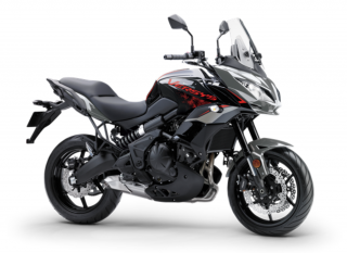 KAWASAKI VERSYS 650 ABS MY21 Metallic Moondust Grey / Metallic Spark Black