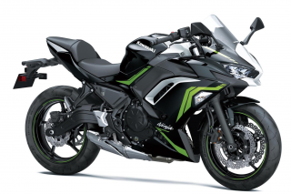 KAWASAKI Ninja 650 MY21 Metallic Spark Black / Pearl Blizzard White