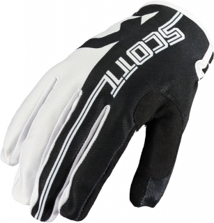 SCOTT motokrosové rukavice glove 350 TRACK black/white