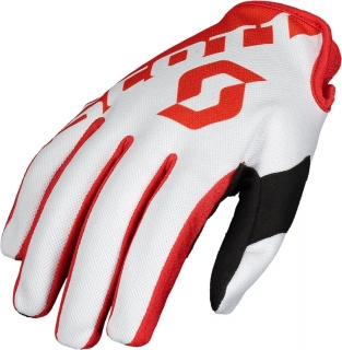 SCOTT motokrosové rukavice 250 red/white