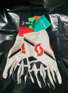 SCOTT motokrosové rukavice glove 350 red/white/black