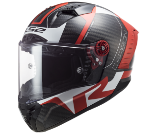 Integrální helma LS2 FF805 thunder Carbon Racing1 Gl.Red White