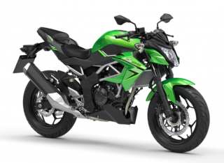 KAWASAKI Z125 MY21 Candy Lime Green / Metallic Spark Black