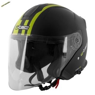 f8a1832ed02 Moto helma W-TEC V586 černo zelená + kukla zdarma empty