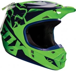 MX Helma Fox Racing V1 Race Fluo Green
