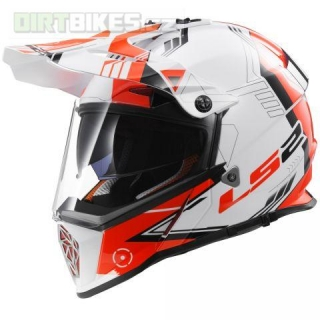helma LS2 MX436 Pioneer Trigger bílo červená + rukavice Thor empty e418cd738a
