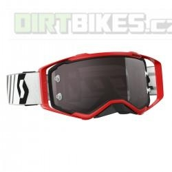 Moto brýle SCOTT Prospect red/black silver chrome works