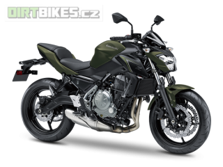 2.KAWASAKI Z650 ABS MY18 Metallic Matte Covert Green / Metallic Flat Spark Black