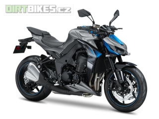 7.KAWASAKI Z1000 MY18 Pearl Storm Gray / Candy Surf Blue