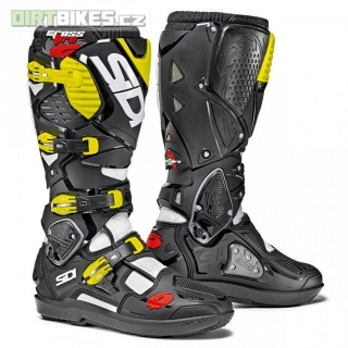 SIDI CROSSFIRE 3 SRS WHITE/BLACK/YELLOW/FLUO