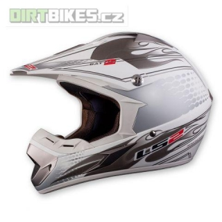 LS2 Helmets Spain LS2 MX433 Batten 2 white/silver