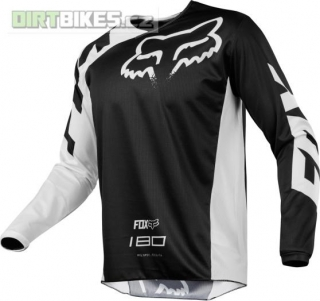 MX dres Fox 180 Race Jersey Black 2018