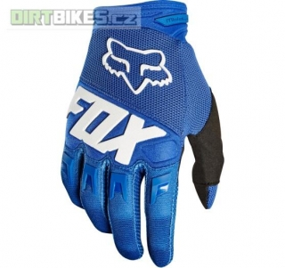 Pánské rukavice Fox Dirtpaw Race Glove Blue 2018