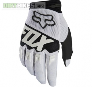 Pánské rukavice Fox Dirtpaw Race Glove White 2018