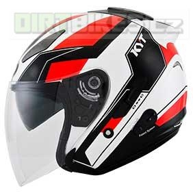 SUOMY KYT HELLCAT GX-S WHITE/RED FLUO