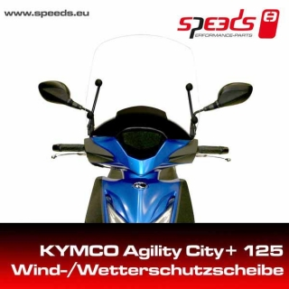 SPEEDS plexi štít KYMCO Agility City+ 125/125i CBS s držákem